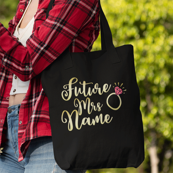 Personalised Future Mrs Tote Bag